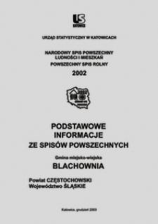 Blachownia. Powiat częstochowski. Województwo śląskie. Gmina miejsko-wiejska