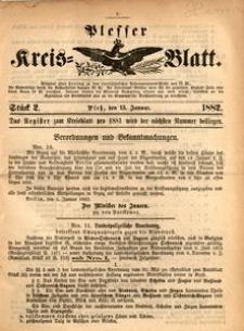 Plesser Kreis-Blatt, 1882, St.2