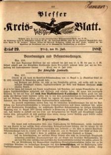 Plesser Kreis-Blatt, 1882, St.29