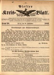Plesser Kreis-Blatt, 1882, St.38