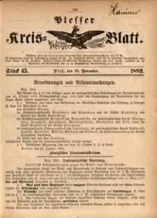 Plesser Kreis-Blatt, 1882, St.45