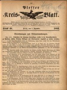 Plesser Kreis-Blatt, 1882, St.48