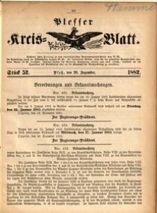 Plesser Kreis-Blatt, 1882, St.52