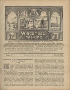 Wiadomości Misyjne, 1908, R. 19, nr 7