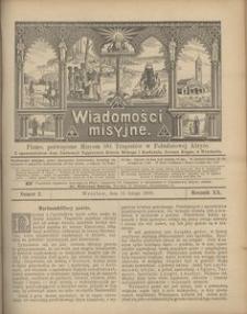 Wiadomości Misyjne, 1909, R. 20, nr 2