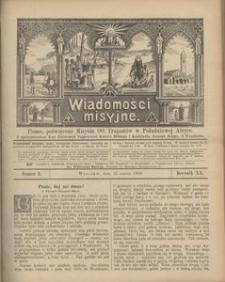 Wiadomości Misyjne, 1909, R. 20, nr 3