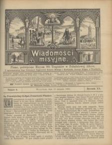 Wiadomości Misyjne, 1909, R. 20, nr 8