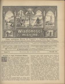 Wiadomości Misyjne, 1909, R. 20, nr 9