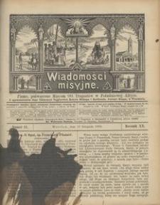 Wiadomości Misyjne, 1909, R. 20, nr 11