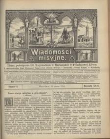 Wiadomości Misyjne, 1911, R. 22, nr 3