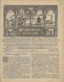 Wiadomości Misyjne, 1911, R. 22, nr 11