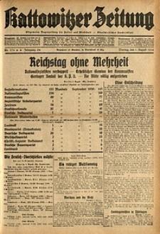 Kattowitzer Zeitung, 1932, Jg. 64, Nr.174
