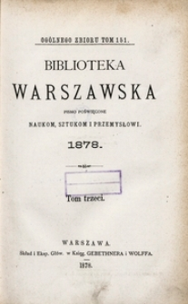 Biblioteka Warszawska, 1878, T. 3