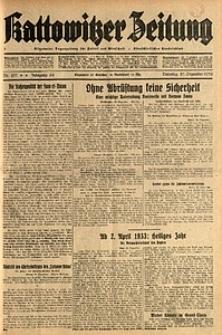 Kattowitzer Zeitung, 1932, Jg. 64, Nr.297