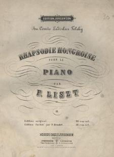 Rhapsodie hongroise pour le piano. II