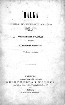 Halka. Opera w czterech aktach
