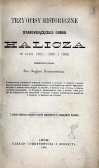 Trzy opisy historyczne staroksiążęcego grodu Halicza w roku 1860, 1880 i 1882