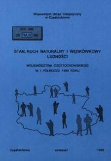 Stan, ruch naturalny i wędrówkowy ludności województwa częstochowskiego w I półroczu 1995 roku