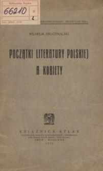 Początki literatury polskiej a kobiety