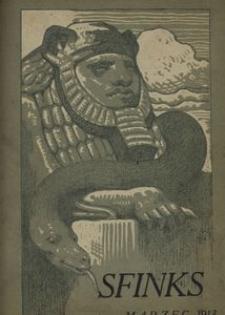 Sfinks. Czasopismo Literackie, Artystyczne i Naukowe 1913, nr 3