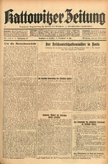 Kattowitzer Zeitung, 1937, Jg. 69, nr118