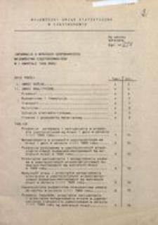 Informacja o wynikach gospodarczych województwa częstochowskiego w I kwartale 1989 roku