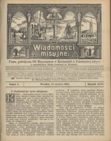 Wiadomości Misyjne, 1915, R. 26, nr 6