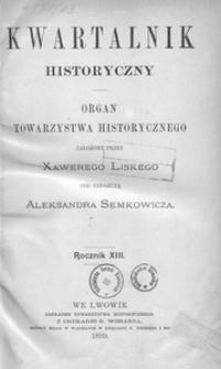 Kwartalnik Historyczny. R 13 (1899)
