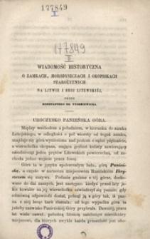 Wiadomość historyczna o zamkach, horodyszczach i okopiskach starożytnych na Litwie i Rusi Litewskiej