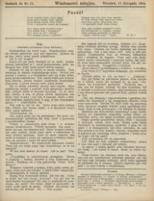 Wiadomości Misyjne, 1915, Dodatek do Nr. 11