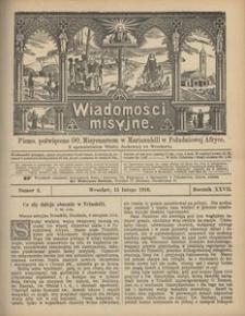 Wiadomości Misyjne, 1916, R. 27, nr 2