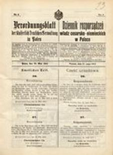 Verordnungsblatt der Kaiserlich Deutschen Verwaltung in Polen, 1915, Nr. 6