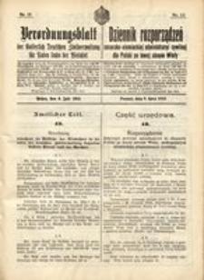 Verordnungsblatt der Kaiserlich Deutschen Verwaltung in Polen, 1915, Nr. 13