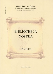 Bibliotheca Nostra. Biuletyn Informacyjny, 2008, No 4(16)