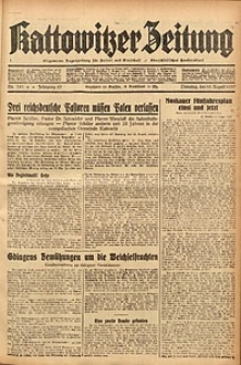 Kattowitzer Zeitung, 1937, Jg. 69, nr181