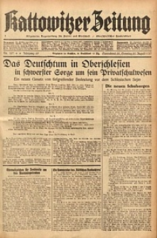 Kattowitzer Zeitung, 1937, Jg. 69, nr197