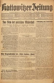 Kattowitzer Zeitung, 1937, Jg. 69, nr227