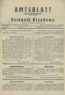 Amtsblatt der Stadt Dombrowa = Dziennik Urzędowy miasta Dąbrowy Górniczej 1939, nr 4