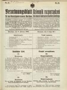 Verordnungsblatt für das Generalgouvernement Warschau, 1916, Nr. 21