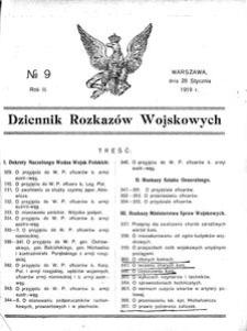 Dziennik Rozkazów Wojskowych, 1919, R. 2, nr 9