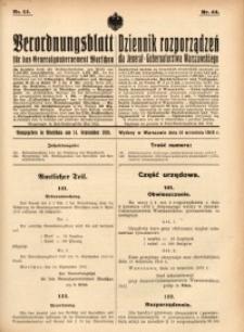 Verordnungsblatt für das Generalgouvernement Warschau, 1916, Nr.44