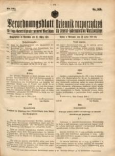 Verordnungsblatt für das Generalgouvernement Warschau, 1918, Nr.109