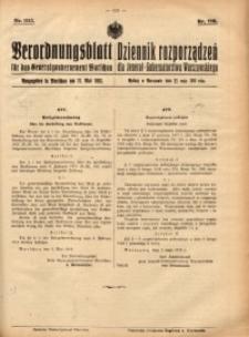Verordnungsblatt für das Generalgouvernement Warschau, 1918, Nr.115