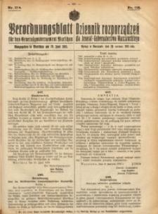 Verordnungsblatt für das Generalgouvernement Warschau, 1918, Nr.118