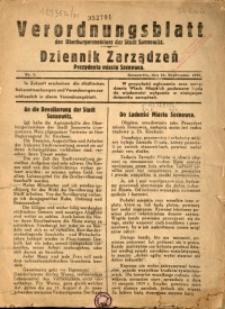 Verordnungsblatt des Oberbürgermeisters der Stadt Sosnowitz, 1939, Nr.1