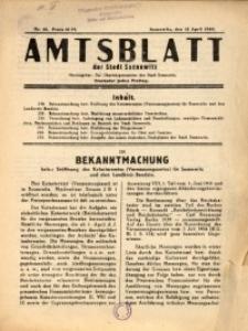 Amtsblatt der Stadt Sosnowitz, 1940, Nr.46