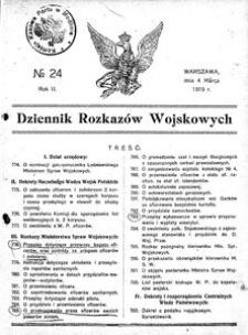 Dziennik Rozkazów Wojskowych, 1919, R. 2, nr 24