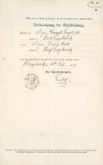 Akt zawarcia małżeństwa z 10.07.1904 r.