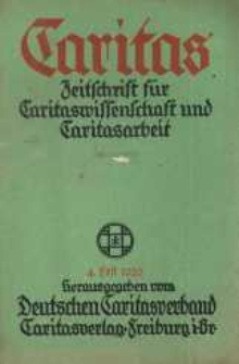 Caritas. Zeitschrift für Caritaswissenschaft und Caritasarbeit, herausgegeben vom Deutschen Caritasverband. Jg. 31, h. 4.