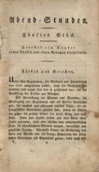 Abend-Stunden, 1822, St.5